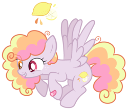 Size: 1651x1425   Tagged: safe, artist:thepegasisterpony, oc, oc:sherbet sun, pegasus, pony, bad teeth, bandage, base used, cute, magical lesbian spawn, mismatched eyes, offspring, parent:derpy hooves, parent:rainbow dash, parents:derpydash, simple background, solo, transparent background