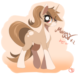 Size: 5782x5514 | Tagged: absurd res, artist:nevobaster, female, looking at you, mare, oc, oc:maggy, oc only, pony, ponytail, safe, smiling, solo, unicorn