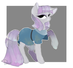 Size: 800x750 | Tagged: artist:bunsiebox, cute, earth pony, female, mare, maudabetes, maud pie, no iris, pony, raised hoof, safe, solo