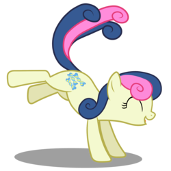 Size: 4000x4000 | Tagged: absurd res, amused, artist:mundschenk85, bon bon, bon bon is amused, bucking, cute, pony, safe, simple background, solo, sweetie drops, transparent background, vector