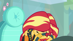 Size: 1920x1080 | Tagged: safe, screencap, sunset shimmer, driving miss shimmer, equestria girls, equestria girls series, car, driving miss shimmer: fluttershy, exasperation, facepalm, fluttershy's car, geode of empathy, magical geodes, sad, steering wheel