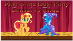 Size: 800x454 | Tagged: best pony, my little pony: the movie, safe, sunset shimmer, trixie, versus