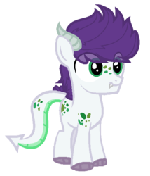 Size: 514x600 | Tagged: safe, artist:sapphireartemis, oc, oc:erinite, dracony, hybrid, interspecies offspring, male, offspring, parent:rarity, parent:spike, parents:sparity, simple background, solo, transparent background