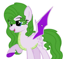 Size: 712x643 | Tagged: safe, artist:sapphireartemis, oc, oc:rare gem, dracony, hybrid, female, interspecies offspring, offspring, parent:rarity, parent:spike, parents:sparity, simple background, solo, transparent background