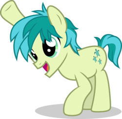 Size: 5000x4906 | Tagged: artist:luckreza8, cute, earth pony, male, open mouth, pony, raised hoof, safe, sandabetes, sandbar, simple background, solo, spoiler:s08e22, stallion, transparent background, vector, what lies beneath