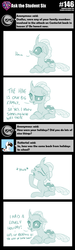 Size: 800x2656 | Tagged: artist:sintakhra, changedling, changeling, female, laying down, ocellus, post-it, prone, safe, solo, tumblr:studentsix, yawn