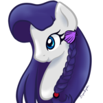Size: 1000x1000 | Tagged: artist:koharuveddette, braid, bust, cute, female, hair ornament, mare, oc, oc:azure harmony, ocbetes, oc only, pony, portrait, safe, seashell, simple background, solo, transparent background