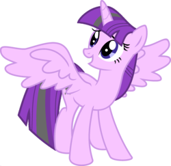 Size: 1920x1870 | Tagged: safe, artist:kamyk962, edit, vector edit, starlight glimmer, twilight sparkle, alicorn, pony, ponyar fusion, female, fusion, mare, recolor, simple background, solo, spread wings, transparent background, twilight sparkle (alicorn), vector, wings