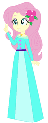 Size: 229x587 | Tagged: safe, artist:selenaede, artist:unicornsmile, fluttershy, human, equestria girls, base used, clothes, crossover, dress, flower, flower in hair, gown, jewelry, necklace, princess fluttershy, snow white
