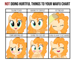 Size: 2400x1950 | Tagged: safe, artist:mrkat7214, bright mac, pear butter, earth pony, pony, blushing, brightbutter, crying, cute, dialogue, disembodied hoof, doing loving things, female, male, mare, marriage proposal, meme, offscreen character, pearabetes, petting, shipping, solo focus, straight, tears of joy, vector