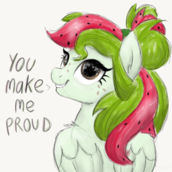 Size: 2100x2100 | Tagged: artist:sjart117, doodle, ear fluff, female, fluffy, freckles, looking at you, looking back, looking back at you, mare, motivational, oc, oc only, oc:watermelana, pegasus, pony, safe, simple background, sketch, smiling, solo, speech, white background