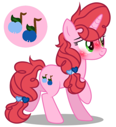 Size: 1280x1400 | Tagged: artist:star-gaze-pony, blushing, female, mare, oc, oc:caroolina sonnet, oc only, offspring, parent:big macintosh, parents:sugarmac, parent:sugar belle, pony, safe, simple background, solo, transparent background, unicorn