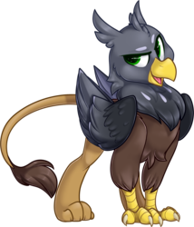 Size: 1402x1639 | Tagged: artist:kellythedrawinguni, griffon, griffon oc, male, my little pony, oc, oc only, pony, safe, simple background, transparent background