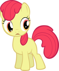 Size: 2590x3099 | Tagged: accessory-less edit, apple bloom, artist:spikesmustache, earth pony, edit, editor:slayerbvc, female, filly, high res, missing accessory, pony, safe, simple background, solo, transparent background, vector, vector edit