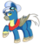 Size: 1280x1406 | Tagged: safe, artist:rainbowtashie, caboose, silver lining, silver zoom, oc, oc:air brakes, earth pony, pegasus, pony, clothes, commissioner:bigonionbean, conductor hat, fusion:air brakes, goggles, male, scarf, solo, stallion, thicc ass, uniform, wonderbolts, wonderbolts uniform
