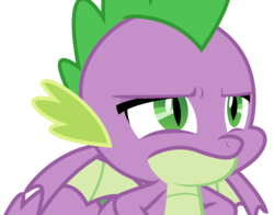 Size: 4309x3375 | Tagged: artist:sketchmcreations, dragon, male, safe, simple background, spike, spike is not amused, spoiler:s09e23, the big mac question, transparent background, unamused, vector, winged spike