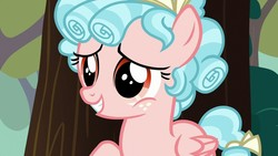 Size: 1280x720 | Tagged: safe, screencap, cozy glow, pegasus, pony, marks for effort, cozybetes, cute, female, filly, freckles, smiling, solo