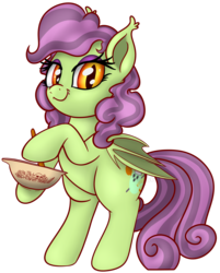 Size: 2170x2695 | Tagged: alternate version, artist:xchan, background removed, baking, bat pony, bat pony oc, bowl, cute, ghost, mixing, mixing bowl, oc, oc:spooky treats, pony, rearing, safe, simple background, solo, stirring, transparent background