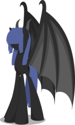 Size: 2645x4373 | Tagged: safe, artist:zacatron94, oc, oc only, oc:neigh sayer, dracony, dragon, hybrid, pony, dragon wings, lineless, simple background, solo, transparent background, wings