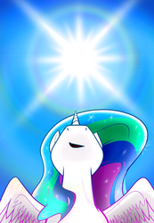 Size: 2700x3900 | Tagged: alicorn, artist:flamevulture17, female, high res, looking up, mare, pony, princess celestia, safe, solo, sun