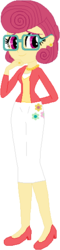 Size: 139x580 | Tagged: safe, artist:ra1nb0wk1tty, artist:wolf, posey shy, equestria girls, base used, clothes, cutie mark clothes, ear piercing, earring, equestria girls-ified, glasses, jewelry, piercing, shoes, skirt