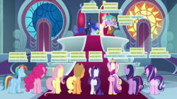 Size: 1920x1080 | Tagged: alicorn, applebutt, applejack, back of head, balloonbutt, butt, canterlot castle, canterlot throne room, derpibooru, dragon, earth pony, edit, edited screencap, ethereal mane, female, flutterbutt, fluttershy, flying, glimmer glutes, hoof shoes, line-up, lovebutt, male, mane eight, mane seven, mane six, mane six plots, mare, meta, moonbutt, pegasus, pinkie pie, plot, plotline, plot line, pony, princess cadance, princess celestia, princess luna, rainbow dash, rainbutt dash, rarity, rearity, safe, school raze, screencap, shipping, spike, spike gets all the mares, spoiler:s09e01, spoiler:s09e02, spoiler:s09e24, spoiler:s09e25, starlight glimmer, straight, sunbutt, tags, the beginning of the end, the ending of the end, throne, throne room, twibutt, twilight sparkle, twilight sparkle (alicorn), unicorn, winged spike
