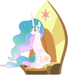 Size: 3860x4050 | Tagged: accessory-less edit, alicorn, alicorn thrones, artist:jeatz-axl, cute, cutelestia, edit, edited vector, editor:slayerbvc, editor:ultrathehedgetoaster, missing accessory, pony, post season 9 story prompt, princess celestia, safe, simple background, story prompt, transparent background, twilight's cutie mark, twilight's throne, unsure, vector, vector edit