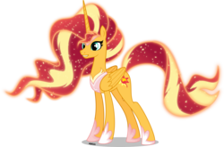 Size: 6000x3959 | Tagged: absurd res, alicorn, alicornified, artist:orin331, ethereal mane, female, flowing mane, hoof shoes, jewelry, mare, older, peytral, pony, princess, race swap, regalia, safe, shimmercorn, spoiler, sunset shimmer