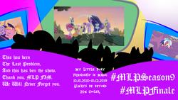 Size: 1152x648 | Tagged: safe, edit, edited screencap, screencap, applejack, fluttershy, luster dawn, pinkie pie, princess celestia, princess luna, rainbow dash, rarity, spike, twilight sparkle, alicorn, dragon, earth pony, pony, unicorn, the last problem, couch, end of ponies, gigachad spike, illustrator, light, mlp s9 countdown, older, older applejack, older fluttershy, older pinkie pie, older rainbow, older rainbow dash, older rarity, older spike, older twilight, photoshop, princess twilight 2.0, silhouette, television, twilight sparkle (alicorn)