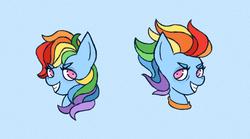 Size: 1800x1000 | Tagged: safe, artist:emiiambar, rainbow dash, pegasus, pony, the last problem, spoiler:s09, older, older rainbow dash