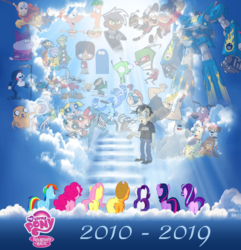 Size: 1156x1200 | Tagged: 2010s, 2019, aang, adventure time, alicorn, applejack, avatar the last airbender, bittersweet, blossom (powerpuff girls), bubbles (powerpuff girls), butt, buttercup (powerpuff girls), cartoon, cartoon heaven, cartoon network, chowder, cloud, codename kids next door, cookie (pound puppies), courage the cowardly dog, crossover, dan, danny phantom, dan vs, dexter's laboratory, dipper pines, disney, earth pony, ed edd n eddy, end of g4, end of ponies, feels, ferb fletcher, finn the human, fluttershy, foster's home for imaginary friends, gir, good end, gravity falls, grim reaper, heaven, hub network, human, invader zim, it's over, jake the dog, johnny bravo, kenny the shark, kids next door, line-up, lucky, lucky smarts, mabel pines, mac (foster's), mane six, megas xlr, meme, mordecai, mordecai and rigby, my little pony logo, niblet, nickelodeon, numbuh 1, numbuh 2, numbuh 3, numbuh 4, numbuh 5, pegasus, phineas and ferb, phineas flynn, pinkie pie, plot, plotline, pony, pound puppies, rainbow dash, rarity, regular show, rigby, sad, safe, squirt (pound puppies), stairs, starlight glimmer, strudel, the end, the grim adventures of billy and mandy, the powerpuff girls, twilight sparkle, unicorn, wall of tags, zim
