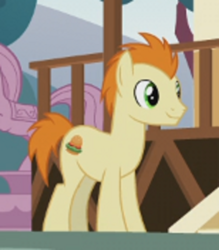 Size: 462x528 | Tagged: safe, screencap, gallop j. fry, earth pony, pony, the last problem, cropped, male, older, older gallop j. fry, smiling, stallion