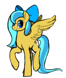Size: 1072x1254 | Tagged: artist:darkodraco, bow, oc, oc:ocean shore, oc only, old design, pegasus oc, pony, safe
