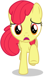 Size: 3000x4920 | Tagged: safe, artist:caliazian, edit, editor:slayerbvc, vector edit, apple bloom, earth pony, pony, one bad apple, accessory-less edit, female, filly, galloping, missing accessory, open mouth, running, simple background, solo, transparent background, vector