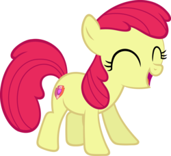 Size: 4121x3756 | Tagged: accessory-less edit, apple bloom, artist:slb94, cutie mark, earth pony, edit, editor:slayerbvc, excited, female, filly, missing accessory, pony, safe, solo, the cmc's cutie marks, vector, vector edit