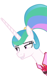 Size: 3000x4876 | Tagged: absurd res, alicorn, alternate hairstyle, artist:sollace, between dark and dawn, bust, female, mare, pony, ponytail, portrait, princess celestia, safe, simple background, solo, spoiler:s09e13, .svg available, transparent background, vector