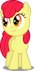 Size: 2329x4813 | Tagged: accessory-less edit, apple bloom, artist:dashiesparkle, earth pony, edit, editor:slayerbvc, female, filly, missing accessory, pony, safe, simple background, sisterhooves social, solo, transparent background, vector, vector edit