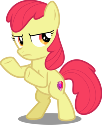 Size: 4348x5293 | Tagged: absurd res, accessory-less edit, apple bloom, artist:jhayarr23, charlie's angels, cropped, cutie mark, edit, editor:slayerbvc, female, filly, hard to say anything, mare, missing accessory, pony, safe, serious, serious face, shimmering spectacles, simple background, solo, the cmc's cutie marks, transparent background, vector, vector edit