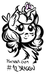 Size: 1904x3013 | Tagged: artist:coco-drillo, bust, chest fluff, cute, diapinkes, ear fluff, earth pony, gummy, inktober, looking up, monochrome, pet, pinkie pie, pinktober, ponka, pony, safe, wide eyes