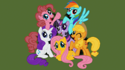 Size: 1920x1080 | Tagged: safe, applejack, fluttershy, pinkie pie, rainbow dash, rarity, twilight sparkle, mane six, minecraft, minecraft pixel art, pixel art