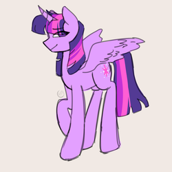 Size: 8000x8000 | Tagged: absurd res, alicorn, artist:strawbapy, colored, eye clipping through hair, female, flat colors, mare, pony, safe, solo, twilight sparkle, twilight sparkle (alicorn)