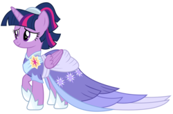 Size: 2906x1923 | Tagged: alicorn, alternate hairstyle, artist:sonofaskywalker, beautiful, clothes, coronation dress, cute, dress, female, mare, pony, pretty, raised hoof, safe, second coronation dress, simple background, smiling, solo, spoiler:s09e26, the last problem, transparent background, twilight sparkle, twilight sparkle (alicorn), vector
