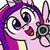 Size: 200x200 | Tagged: safe, artist:jargon scott, princess cadance, alicorn, pony, bye anon, delet this, female, gun, handgun, hi anon, looking at you, lowres, mare, meme, open mouth, revolver, simple background, solo, weapon, white background