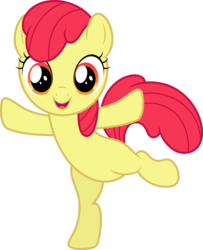 Size: 10000x12331 | Tagged: safe, artist:claritea, edit, editor:slayerbvc, vector edit, apple bloom, earth pony, pony, absurd resolution, accessory-less edit, adorabloom, belly, bipedal, cute, female, filly, missing accessory, simple background, solo, standing, standing on one leg, transparent background, vector