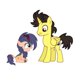 Size: 1536x1536 | Tagged: alicorn, alicornified, alicorn oc, artist:motownwarrior01, commissioner:bigonionbean, female, filly, kirin, male, oc, oc:tommy the human, pony, race swap, safe, stallion