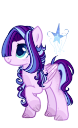Size: 620x1022 | Tagged: artist:xxcutecookieswirlsxx, female, magical lesbian spawn, mare, oc, oc:sapphire heaven, offspring, parent:rarity, parents:rarilight, parent:twilight sparkle, pegasus, pony, safe, simple background, solo, transparent background