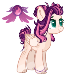 Size: 900x1000 | Tagged: artist:xxcutecookieswirlsxx, female, magical lesbian spawn, mare, oc, oc:eclipse moon, offspring, parents:sunsetsparkle, parent:sunset shimmer, parent:twilight sparkle, pegasus, pony, safe, simple background, solo, transparent background