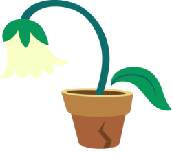 Size: 3362x3000 | Tagged: artist:cloudyglow, cutie mark, cutie mark only, flower, flower pot, high res, no pony, safe, simple background, transparent background, vector, wallflower blush