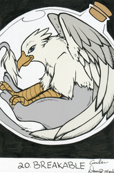 Size: 1234x1869 | Tagged: safe, artist:sonicsweeti, artist:tinibirb, color edit, edit, oc, oc only, oc:der, griffon, colored, glass, grayscale, inktober, monochrome, traditional art