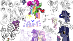Size: 1920x1080 | Tagged: artist:allyclaw, artist:huffylime, artist:littlepony115, artist:m3g4p0n1, bon bon, cheerilee, cozy glow, diamond tiara, drawpile disasters, fluttershy, limestone pie, marble pie, mlpds, monster, oc, pinkie pie, rainbow dash, rarity, safe, starlight glimmer, sweetie drops, tempest shadow, twilight sparkle, wallflower blush